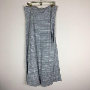 GAP Size XL Gray Maxi Floor Length Skirt P16